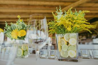 esküvő, asztaldísz